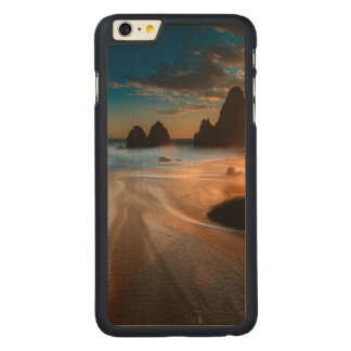 Coastline At Sunset | Northern California Carved Maple iPhone 6 Plus Case