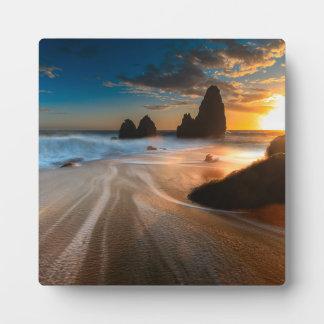 Coastline At Sunset | Northern California Plaque