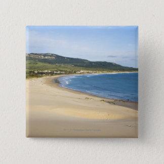 Coastline Beach Along The Coast Near Tarifa 15 Cm Square Badge