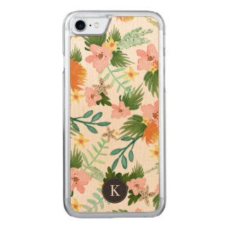 Coastline Floral Carved iPhone 7 Case