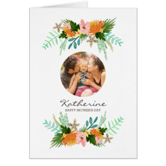 Coastline Floral Mother's Day Greeting Card
