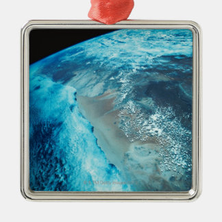 Coastline on Earth Christmas Ornament