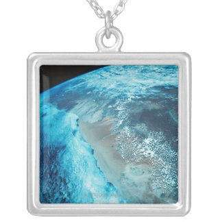 Coastline on Earth Silver Plated Necklace