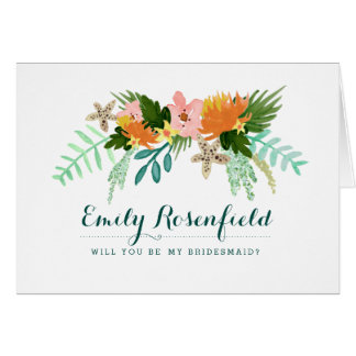 Coastline Wedding Party Card