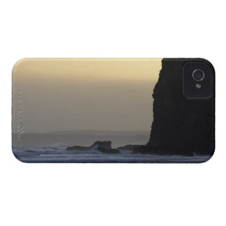 coastline with stormy seas iPhone 4 cover