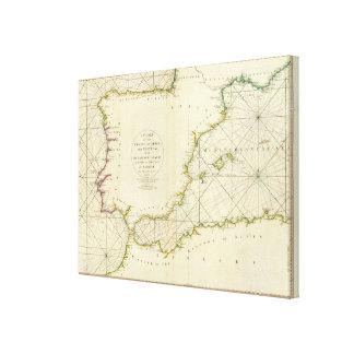 Coasts Spain, Portugal, Barbary Canvas Print