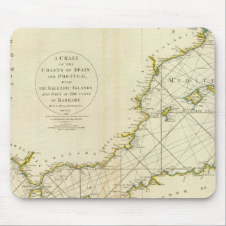 Coasts Spain, Portugal, Barbary Mouse Mat