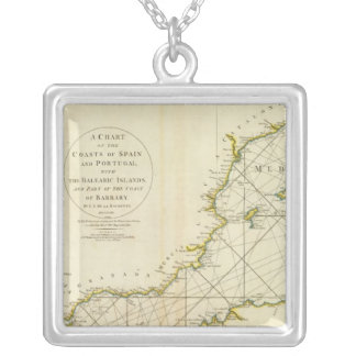 Coasts Spain, Portugal, Barbary Silver Plated Necklace