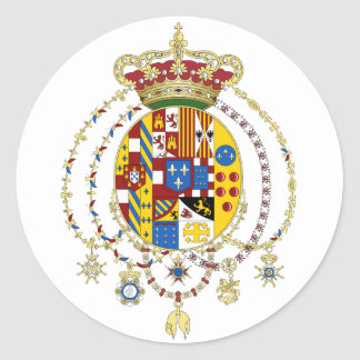 Coat  Arms Kingdom of Two Sicilies Official Italy Classic Round Sticker