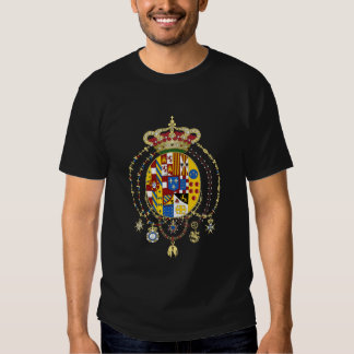 Coat  Arms Kingdom of Two Sicilies Official Italy T Shirt