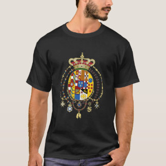 Coat  Arms Kingdom of Two Sicilies Official Italy T-Shirt