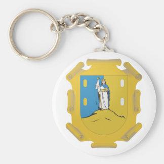 Coat Arms San Luis Potosi Official Mexico Symbol Basic Round Button Key Ring