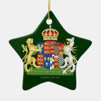 Coat of Arms Anne Boleyn Ceramic Star Decoration