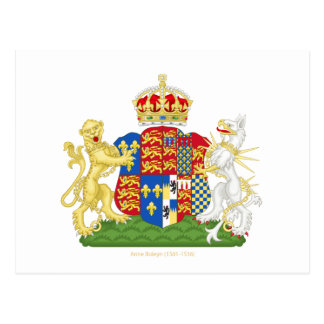 Coat of Arms Anne Boleyn Postcard