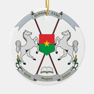 Coat of Arms Burkina Faso - Armoiries Burkina Faso Christmas Ornament
