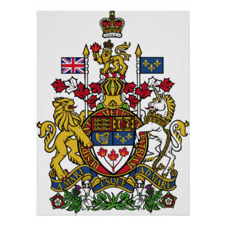Coat of arms Canada Official Heraldry Symbol Logo Poster