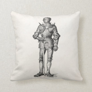 Coat of Arms Knight Shining Armor Sword Medieval Cushion