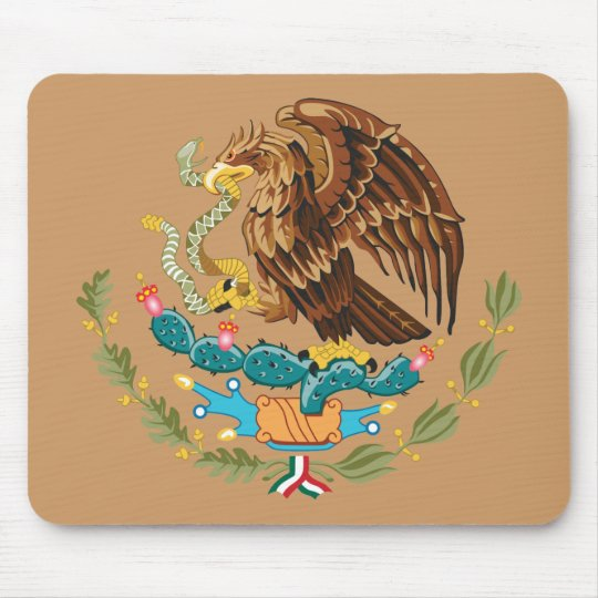 Coat of Arms Mexico Mouse Pad
