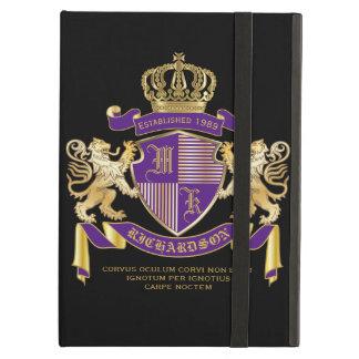 Coat of Arms Monogram Emblem Golden Lion Shield iPad Air Case