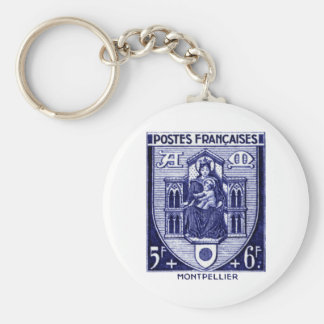 Coat of Arms, Montpellier France Basic Round Button Key Ring