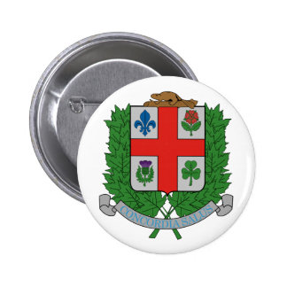 Coat of Arms Montréal Canada Official Symbol 6 Cm Round Badge