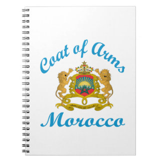 Coat Of Arms Morocco. Spiral Note Book