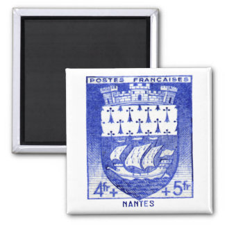 Coat of Arms, Nantes France Square Magnet