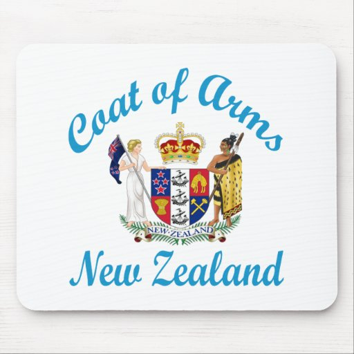 Coat Of Arms New Zealand Mouse Pad