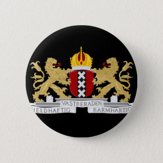 Coat of arms of Amsterdam 6 Cm Round Badge