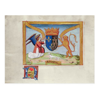 Coat of Arms of Anne of Brittany  1515 Postcard