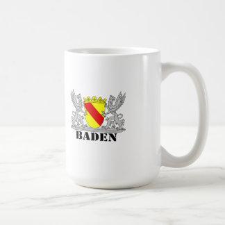 Coat of arms of Baden of Baden seize mi writing ba Basic White Mug