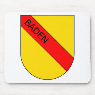 Coat of arms of Baden with writing Mouse Mat