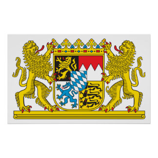Coat of Arms of Bavaria Official Germany Symbol Poster