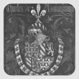 Coat of Arms of Charles de Bourgogne Square Sticker