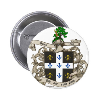 Coat of Arms of Charles F. Banks of Atlanta 1896 Button