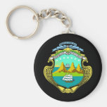 Coat of arms of Costa Rica Basic Round Button Key Ring
