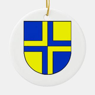 Coat of Arms of Davos Round Ceramic Decoration