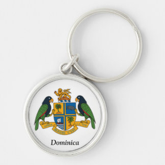 Coat of arms of Dominica Silver-Colored Round Key Ring