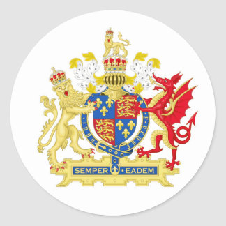 Coat of Arms of England Used By Queen Elizabeth I Round Sticker