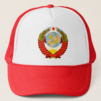 Coat of Arms of former Soviet Union Trucker Hat