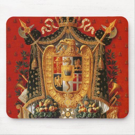 Coat of Arms of Italy, design for a tapestry Mouse Pads
