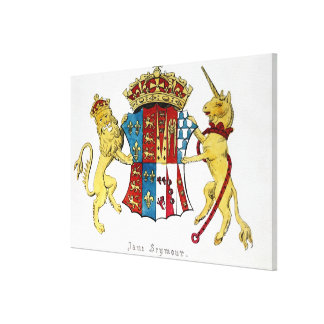 Coat of Arms of Jane Seymour Canvas Print