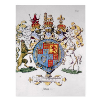 Coat of Arms of King James I of England Postcard