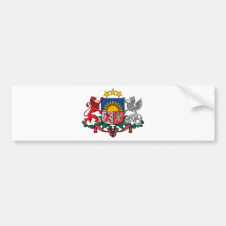 Coat of arms of Latvia - Latvijas ģerbonis Bumper Sticker