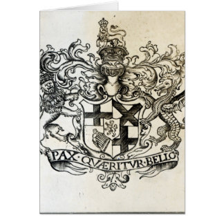 Coat of arms of Oliver Cromwell Card