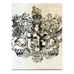 Coat of arms of Oliver Cromwell Postcard