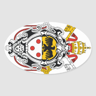 Coat of Arms of Pope Pius XI Oval Sticker