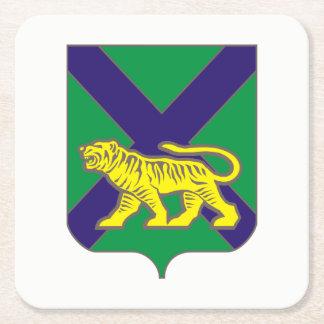 Coat of arms of Primorsky krai Square Paper Coaster