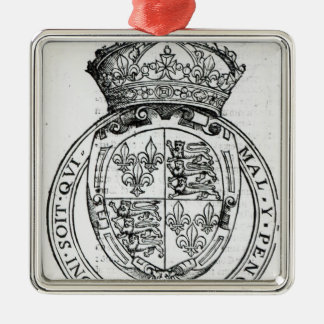 Coat of Arms of Queen Elizabeth I Christmas Ornament