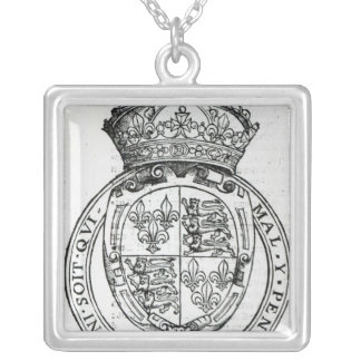 Coat of Arms of Queen Elizabeth I Silver Plated Necklace